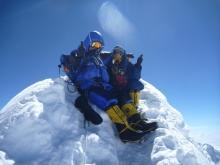 Fra toppen av Manaslu, med Mingma Sherpa